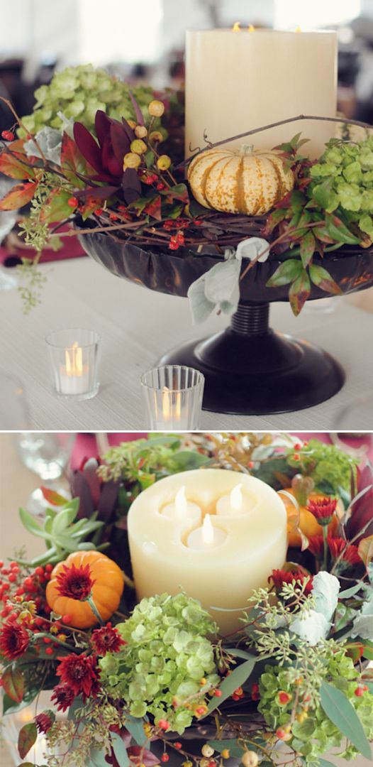 Easy fall wedding centerpiece http weddingchicks