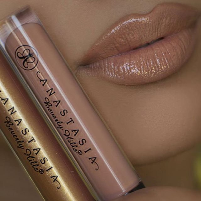 Undressed and Gilded lip glosses @helena_makeup #anastasiabeverlyhills by anastasiabeverlyhills