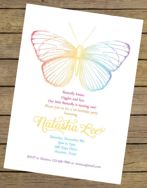 The 25 best Butterfly invitations ideas – Butterfly Invitations Birthday