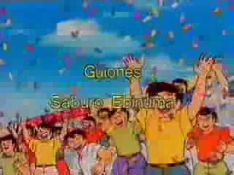 Captain Tsubasa - Oliver & Benji (Spanish opening) - Growing up in Spain during the 80's meant I got to watch a LOT of sports based anime. This in particular was super popular and known by incredibly long soccer matches. You can tell the animation and style are super old.