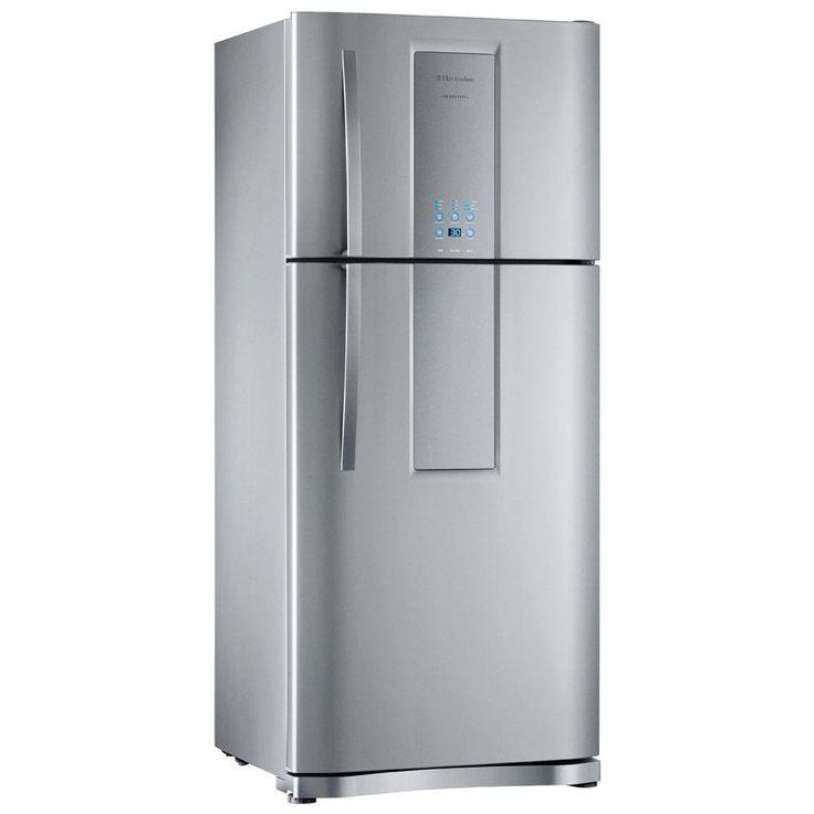 Refrigerador Electrolux Infinity DF80X Frost Free com Interface Blue Touch 553L - Inox | PontoFrio.com