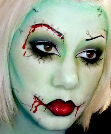 16 last minute halloween costumes that only require makeup - Easy Scary Halloween Face Painting Ideas