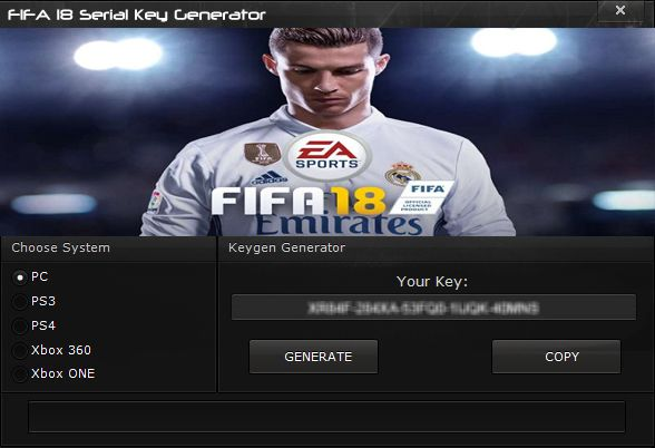 After last year we gave you a keygen for FIFA 17, now is time to introduce you our FIFA 18 Serial Key Generator. FIFA 18 is the game at the end of the year