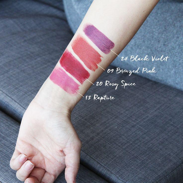 S W A T C H E S NOTE Ultra Rich Colour Lipstick