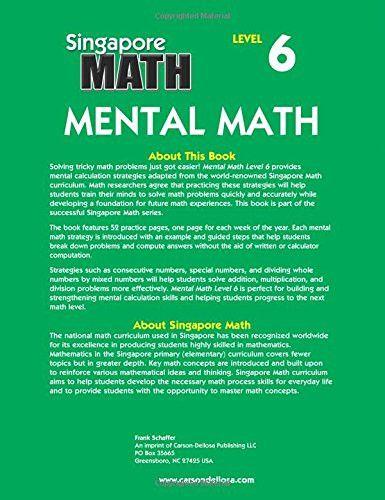 Mental Math, Grade 7: Strategies and Process Skills to Develop Mental Calculation (Singapore Math)