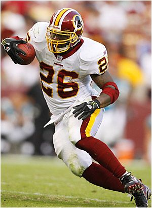 Clinton Portis continues the 'Canes NFL Streak with a touchdown for the Redskins