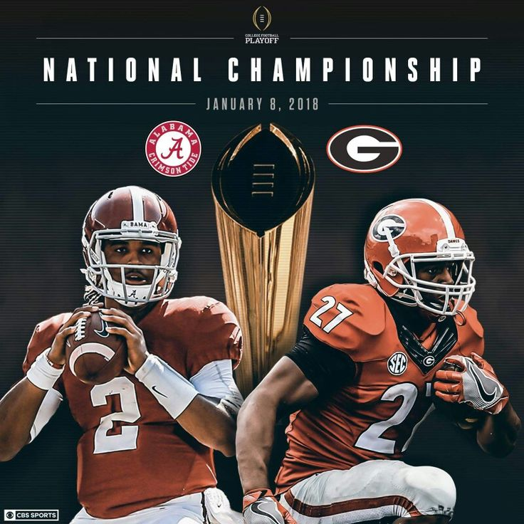 The 2 best teams in the country are both from the SEC and will play for the National Championship.