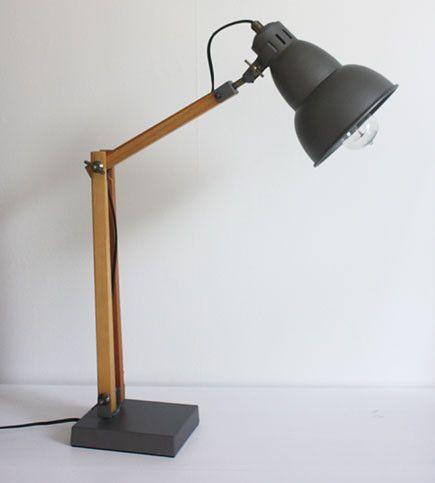 Telegram lamp large 75cm gun metal