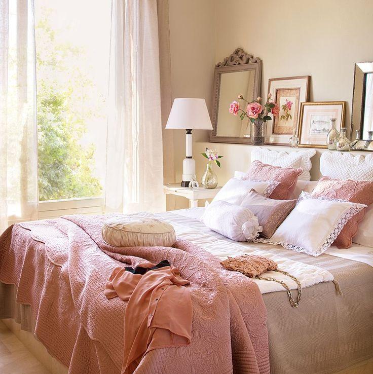 Dormitorio con toques vintage