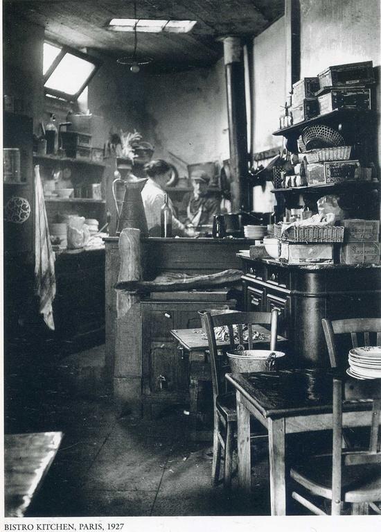 Bistro kitchen, Paris, 1927 by Andre Kertesz