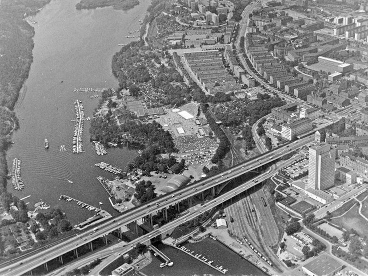 Flygfoto över Skanstull 1960