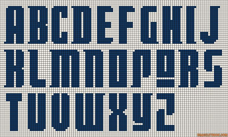 Cross stitch/hama/perler - new abc / letters