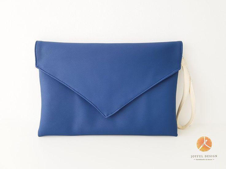 Blue handmade clutch