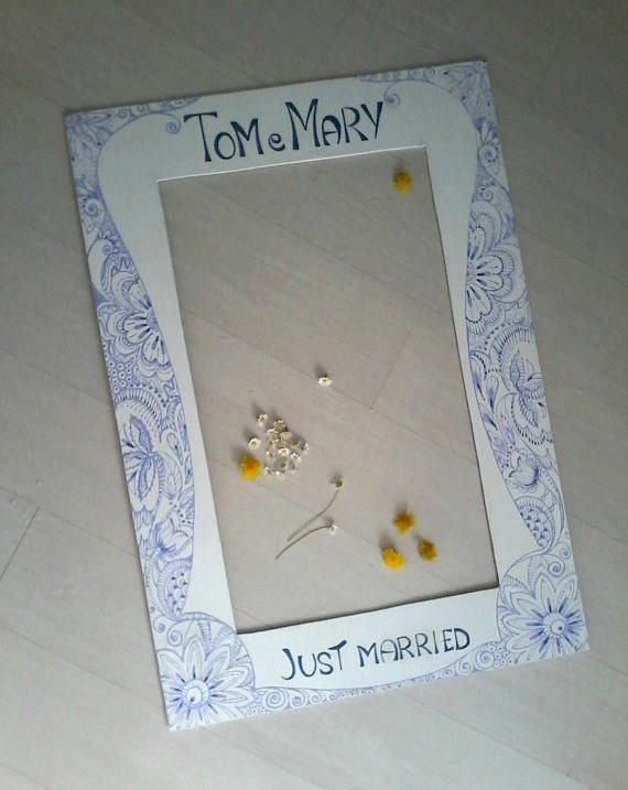 Scritte decorative su cornice  photo booth di nozze personalizzata/ Articolo per feste personalizzato/ Cornice per foto divertenti
