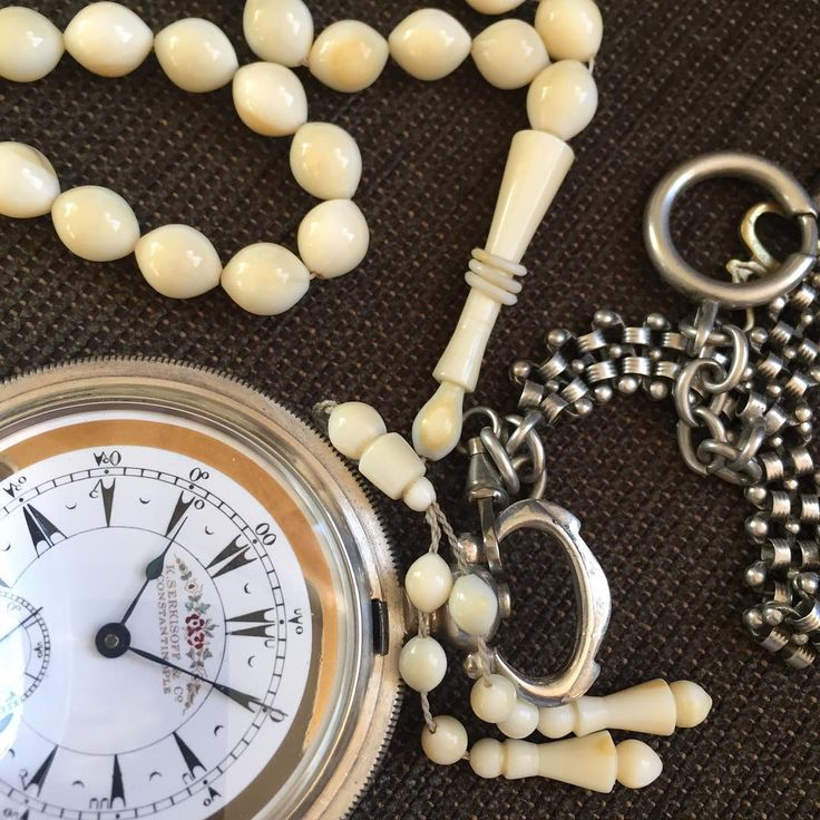 K Serkisof Silver Pocket Watch - Walrus Tooth Rosary #rosary #divine #pray #beads #mesba #instajewelry #prayerbeads #holy #jewelry #handmade #dhikr #gems #amber #ivory #bernstein #horn #jet #tortoiseshell #walrus #tesbih #tespih #zikir #namaz #dua #islamicart #ruhiacikgoz