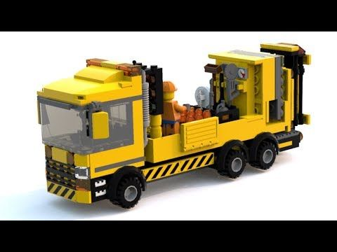 Custom LEGO Highway Maintenance Vehicle