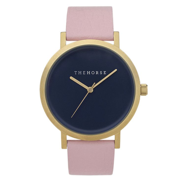 The Horse watch - Gold / Navy / Husk Leather