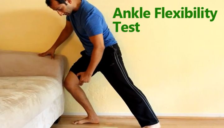 Ankle Flexibility Test- This is a quick test to see if you are missing ankle dorsiflexion or bending. #ankle #flexibility #test http://www.tridoshawellness.com/ankle-flexibility-test/