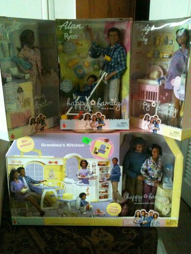 Happy Family Barbie Lot AA Grandparents Kitchen Alan Doctor Midge | eBay