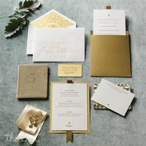 Elegant Gold Invitations