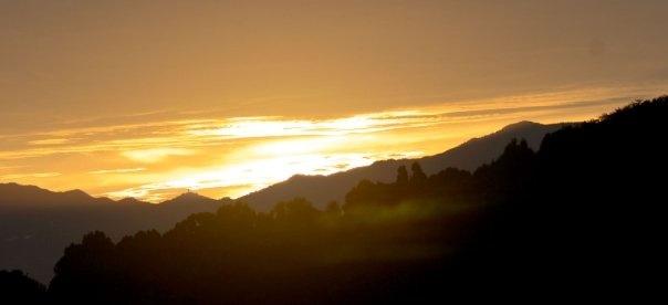 Sukamantri, Bogor, ID: When the sun rises