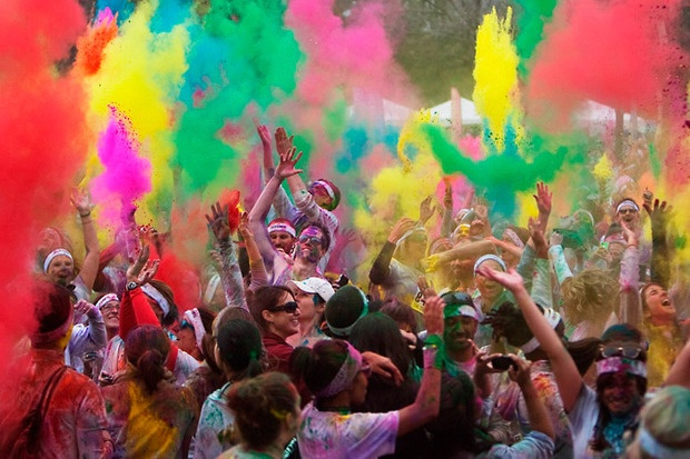 "Color Cloud-- The Color Run, ""The Happiest 5k on the Planet. Bucket"