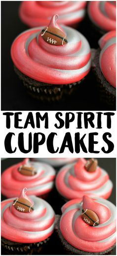 Learn how to decorate cupcakes in your school's team colors in one seamless stroke using the Wilton 3-Color Coupler! - from notquitesusie.com
