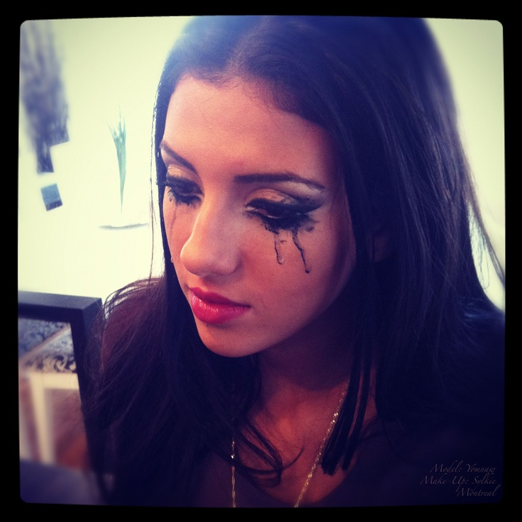 Crying dramatic make-up for Lucas T music video.   Model: Yomnaw  Make-up: Sylkie  Montreal
