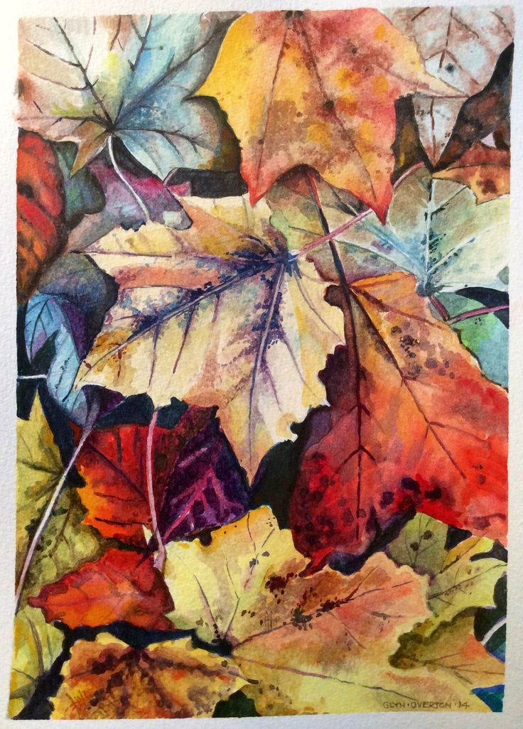 140 best LEAVES images on Pinterest | Leaves, Water colors ...