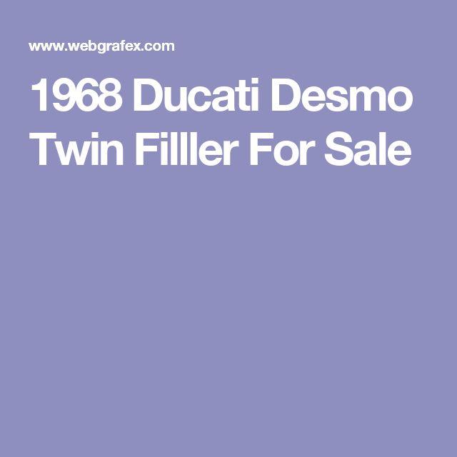 1968 Ducati Desmo Twin Filller For Sale