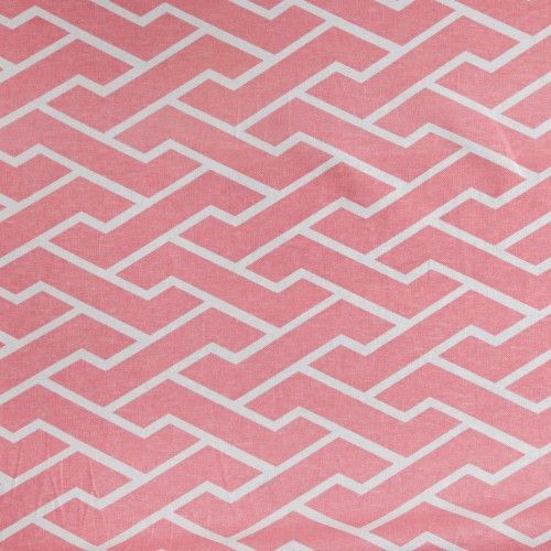 Caitlin Wilson Textiles: Pink City Maze Fabric pair of chairs