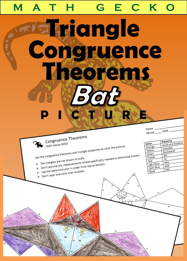 Triangle Congruence Theorems Picture (Bat) Doctor