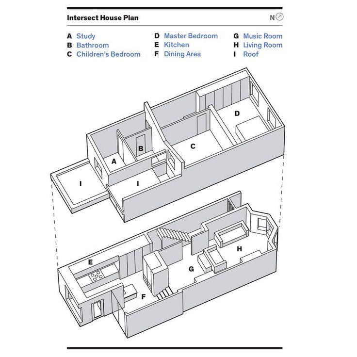 Intersect House floor plan