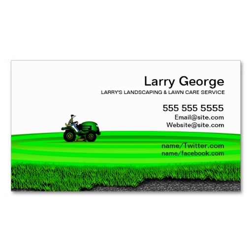 Lawn care landscaping service business card landscaping for Landscaping business
