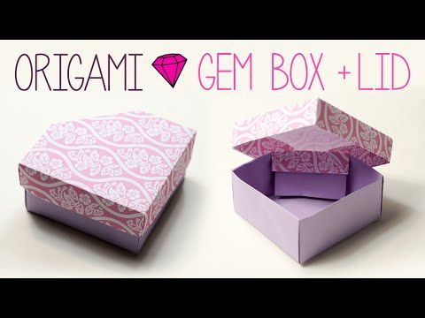 Origami Gem Box with Lid - YouTube