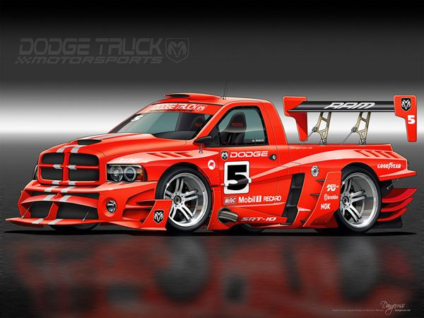 Holy Bad Ass!   I applaud whoever was responsible for this design. Damn! Dodge Truck