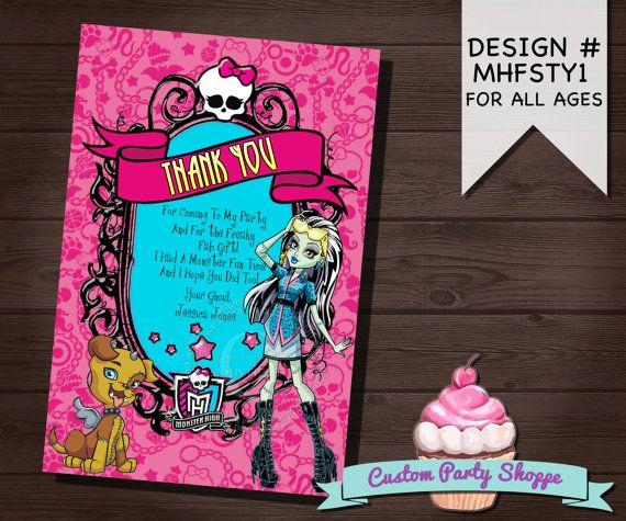 Monster High Birthday Invitations Ivoiregion