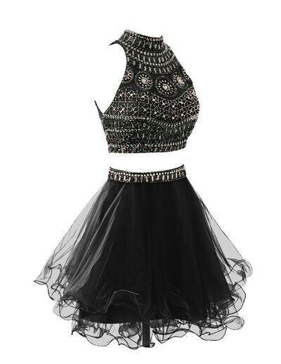 Vestido perfeito para a balada preto basico cropped com cristais e saia de tule com cinto com cristais
