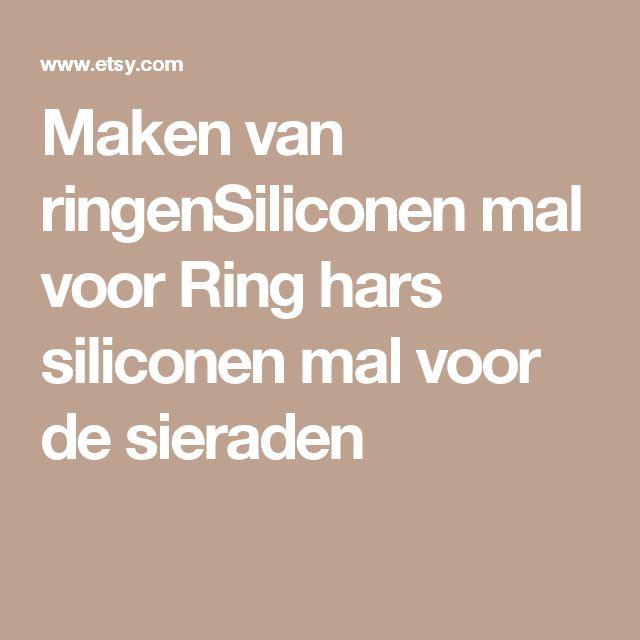 Maken van ringenSiliconen mal voor Ring  hars siliconen mal voor de sieraden
