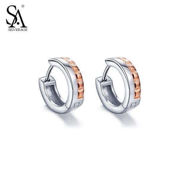 Rose Gold Silver Hoop | Genuine 925 Sterling Silver