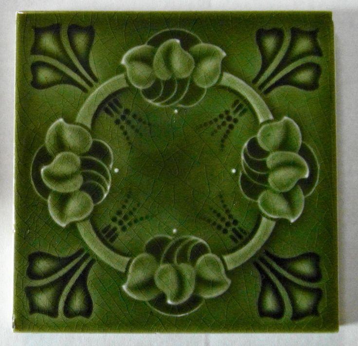 """Original English Art Nouveau tile c1904/6 6""""x6""""Tile ref 769   eBay"""