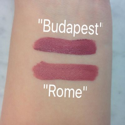 New NYX soft butter lipcream - ROME, MADRID, BUDAPEST, MOSCOW