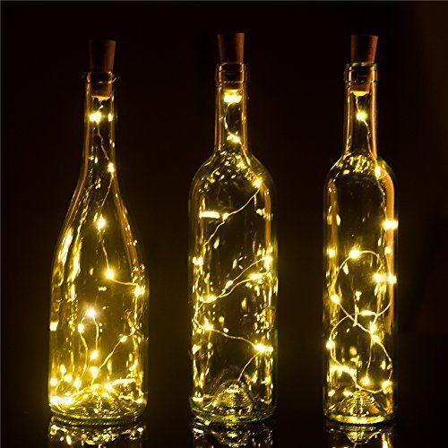 Recycle Wine Bottle Lights Pro , 6 Pack , 15LEDS , DIY Empty Liquor Lamps , #Hembeer