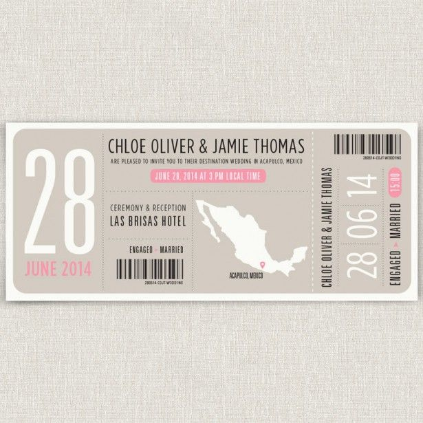 8 best wedding accessary images on Pinterest Invitations, Card - best of invitation template boarding pass
