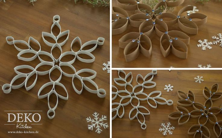 DIY große Weihnachtssterne aus Küchenrollen Deko-Kitchen