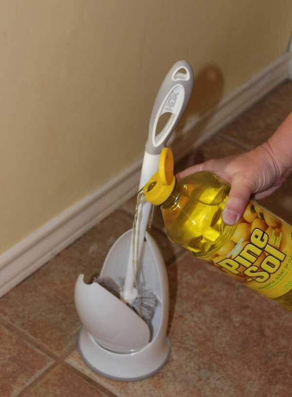 Home Depot posted a trick that everyone needs to try  In your toilet brush  holder  pour in some all purpose cleaner  This will help keep the brush  clean. 17 Best ideas about Toilet Brush on Pinterest   Bathroom toilet