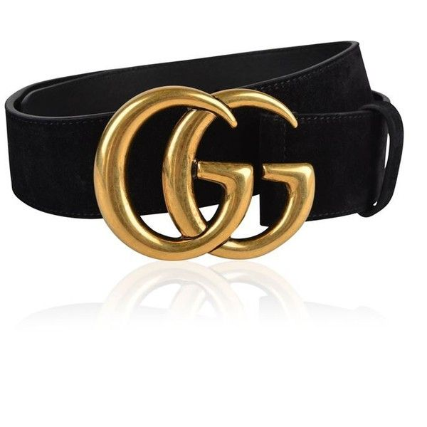 Gucci Gg Suede Belt ($440) ❤ liked on Polyvore featuring accessories, belts, black, gucci and gucci belt