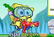 Spongebob Mission: Juego de bob esponja, ayudarlo a acumular todas las manzanas que puedas y abrir la puesta para poder pasar de nivel http://www.ispajuegos.com/jugar6109-Spongebob-Mission.html