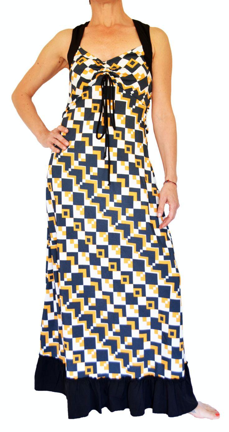 Boho Long Dress Trendy Summer Dress Long Swing Dress Boho Long Dress Party Dress Casual Dress Vestito Lungo Estivo Rayon Donna di EdoCollection su Etsy