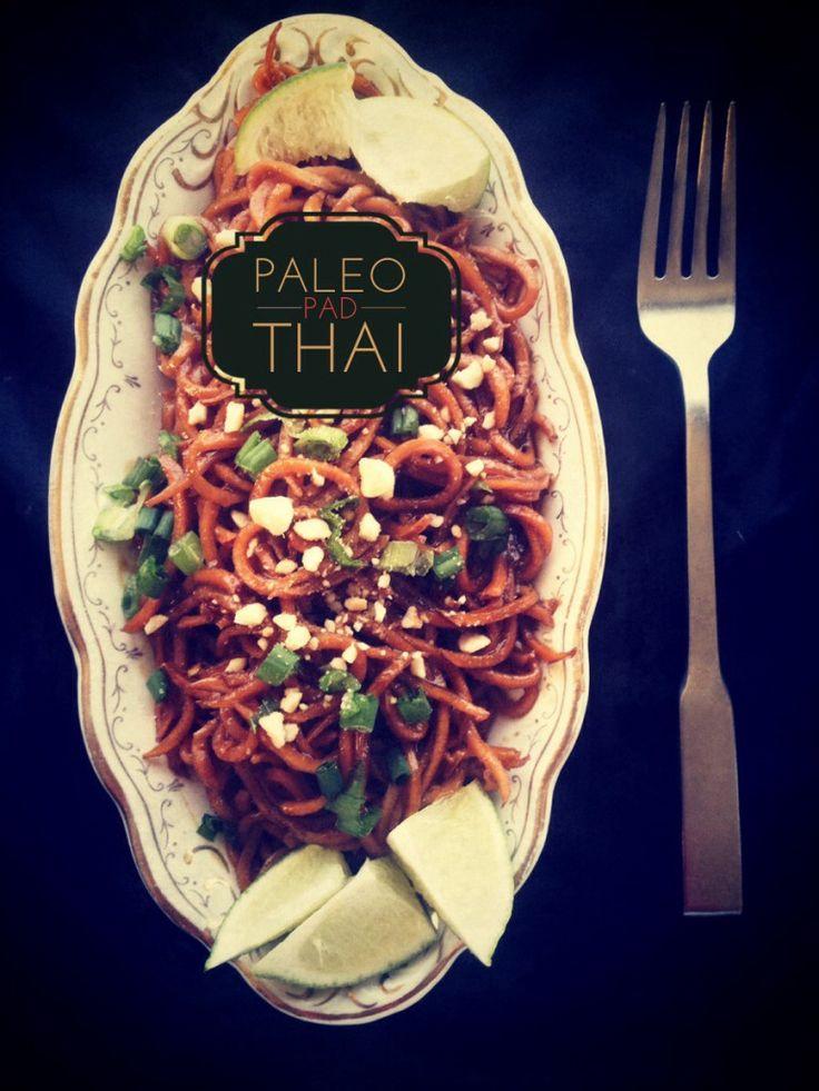 Paleo Pad Thai with Sweet Potato Noodles. (Gluten/Dairy/Egg Free)